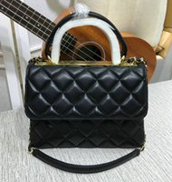 Wholesale chocolate brown diamonds for sale - Group buy Designer Colors Women s Genuine Leather Chain Shoulder Bag Flap Handbag Brand Fashion Trendy Hand Bag
