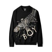 camisola dos homens londres do menino venda por atacado-Boy London Fashion Designer Hoodies dos homens de alta qualidade Águia Imprimir com capuz manga comprida Luxo Homens Mulheres Casais pulôver preto S-2XL