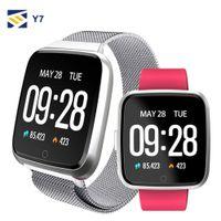 ingrosso vigilanza monitoraggio-NEW per Apple iPhone Y7 smart fitness Bracciale Tracker Sport telefono orologio da polso impermeabile cardiofrequenzimetro Wristband