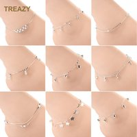 Wholesale ankle bracelet silver bell for sale - Group buy Trendy Silver Plated Beaded Anklet Heart Bell Star Anilmal Foot Chain Ankle Bracelet Barefoot Sandals Women Girls Summer Jewelry