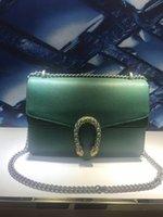 ingrosso gioielli in catene di cuoio-Pelle smeraldo Qualità eccellente Ben Know For Lady Jewellery Borsa a tracolla con tracolla