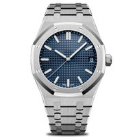 Wholesale big rose watches for sale - Group buy New Luxury mens automatic watches fashion stainless steel hi quality modern wristwatches Rose Gold Royal Oak Watch mm big size
