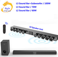 Wholesale tv home theater speakers for sale - Group buy Amoi L3 L2 Soundbar Wall hanging pure wood speaker tv sound bar home theater Subwoofer Bluetooth D surround sound horn Integrate