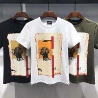 vibrierende hülse für männer großhandel-Kleidung Herrenmode Mode vibrierenden Sommer Wind Kurzarm lose Fünf-Punkt-Ärmel T-Shirt cec Super Feuer faul Wind T-Shirt