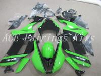 zx6r yeşil toptan satış-Yüksek kalite Yeni ABS motosiklet marangozluk kawasaki Ninja ZX6R için fit 636 ZX6R 2007 2008 07 08 kaporta set özel bisiklet fairing siyah yeşil