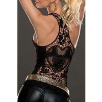 Wholesale crochet back tanks resale online - Summer Womens Tank Tops T shirt Sexy Lace Vest Top Crochet Back Hollow out Vest Camisole Black white Sleeveless Shirt Blouse