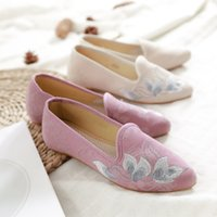 Wholesale old beijing shoes resale online - Pointed old Beijing cloth shoes
