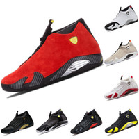 ingrosso aria retro 14-Nike Air Jordan 14 Retro Top Uomo 14 14s Scarpe da basket Rosso The Last Shot Desert Sand Nero Toe Mens Trainer Sport Sneakers Cheap Size 41-47 all'ingrosso