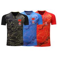 jerseys china venda por atacado-2019 China Dragon tênis badminto / table camisetas Shorts dos homens / mulheres / crianças, ping-pong Jersey, ténis de mesa shirt camisas de tênis de mesa Kit