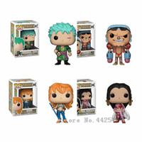 tek parça koleksiyon çocuk figürleri toptan satış-Funko Pop One Piece Roronoa Zoro / boa.hancock / nami Kid Boy Doğum Günü Hediyesi Vinil Doll Action Figure Koleksiyon Model Oyuncak Arkadaş Için Y19062901