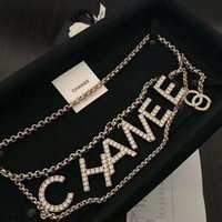 Wholesale New custom brass diamond classic letter waist chain holiday dress birthday gift