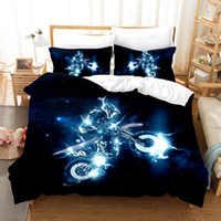 Wholesale king motorcycle for sale - Group buy 3D Motorcycle Duvet Cover set Soft Racing Bedding set High quality Bed Pillowcase Queen King
