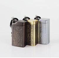ingrosso scatole di stoccaggio per torte-New Mini metallo posacenere portachiavi sigillo portatile design innovativo scatola di immagazzinaggio caso contenitore vaso vaso per sigaretta fumo tubo torta calda