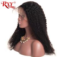 Wholesale mongolian human hair kinky wigs resale online - Factory Price Mongolian Curly Wigs Glueless X6 Lace Frontal Human Hair Wigs Mongolian Kinky Curly Lace Front Wigs