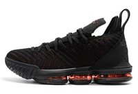 Wholesale outlets los angeles for sale - Group buy Los Angeles Mens LBJ Basketball Shoes LAL Black Red XVI Legit Cheap Trainers Sports Designer Sneakers Outlet