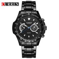 Wholesale clock dropship resale online - CURREN Hot Fashion Creative Watches Men s Quartz Clock Casual Business Full Steel Band Wristwatches Dropship relogio masculino