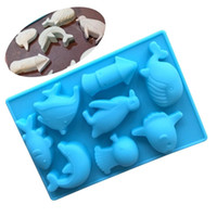 Wholesale chocolate mold animal shape for sale - Group buy 3D Marine Animal Shaped Silicone Chocolate Soap Candy Fondant Sea World Mould Silicone Chocolate Cookies Cake DIY Mold
