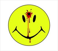 pistolet autocollant achat en gros de-Pour Smiley Visage Décalque Tête Balle Trou Trou Gun Stickers Sang Vinyle Autocollants Decal Personnalité Accessoires