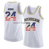 chaleco de baloncesto amarillo al por mayor-Michigan State Basketball Jersey # 24 Jimmy King Top Amarillo Personalizado de cualquier tamaño, número y nombre cosido Jerseys de chaleco XXS-6XL XS-6XL de alta calidad
