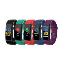 sport kinder aktivitäten großhandel-115 Plus Farbdisplay-Armband Smart Wristbands Sport-Herzfrequenz-Blutdruckmessgerät Wasserdichte Activity Tracker-Uhr