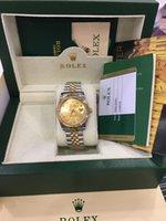 женские наручные часы оптовых-Рождественский подарок швейцарские автоматические часы Оригинальная коробка сертификат 41мм 36мм Мужская женщина 26мм 18-каратное золото Президент CHAMPAGNE Diamond 118238 SANT