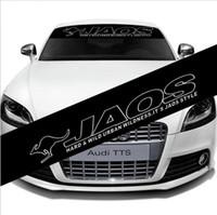 etiqueta da velocidade do pára-brisa venda por atacado-Auto Car Front Windshield Vinyl Banner Decalque Reflexivo Para JAOS Corrida Adesivo