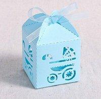 bautizo bebe caja al por mayor-Cajas del favor del bautismo, 2.2''x2.2''x2.2''Laser Cut cajas de regalo para baby shower favores de bautismo Decoración Primera Bi