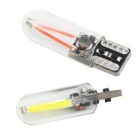 lámparas de vidrio verde al por mayor-T10 Canbus LED 12V Vidrio COB Filamento Car Reading Bulb Luz trasera Luz Auto Liquidación Luz Lámpara de señal