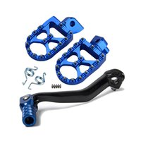 Wholesale road pedals for sale - Group buy H2CNC Gear Shift Foot Lever Folding Tip Foot Pegs Rests Pedals Rear Sets For YAMAHA YZ250F YZ450F YZ450FX WR450F Off Road Bikes