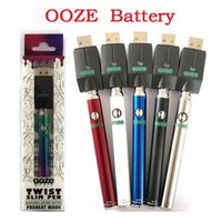Wholesale OO ZE Twist Preheat mah Battery Charger Kit variable voltage Preheat Bud Touch battery thread Vape battery VS Vmod Palm Law