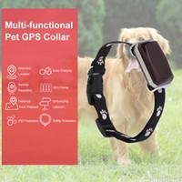 köpek izci yaka toptan satış-Akıllı IP67 Koruma MiNi Pet GPS AGPS LBS Köpek Izci Izleme Yaka Yaka AGPS LBS SMS Konumlandırma Geo-Çit Parça Cihazı