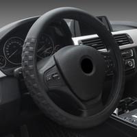 produtos gerais venda por atacado-Grade quadrada quente Tampa do volante do carro Manga Quatro estações Tampa do volante do carro geral 15 polegadas Universal Auto Products