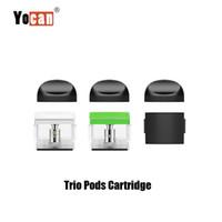 concentrés de vape achat en gros de-100% d'origine Yocan Trio Pod Cartouche vide 1.0ml vaporisateur épais huile concentrée cire E Liquid Vape Pods pour Trio 3-en-1 Kit Authentic