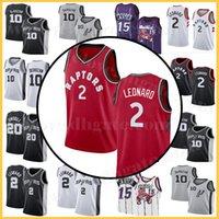 6a2d5085e6e7 Toronto Mens Kawhi 2 Leonard Demar Vince 15 Carreras Antonio Spurs Raptors  10 DeRozan San Jersey Kyle 7 Lowry Camisetas de baloncesto Venta barata
