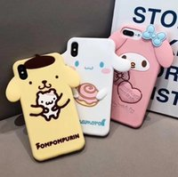 Wholesale melody case for sale – best 3D Cartoon Melody Twin Stars Phone Case for iPhone Pro Plus XS Max XR X Soft Silicone Cover Fundas Coque Capa
