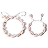 ingrosso 14k catene d'oro turco-2018 boho Hawaiian Sea Shell Collana girocollo Donna Bracciale Set di gioielli Bohemian Turkish Gold Foot Chain Collar Chocker