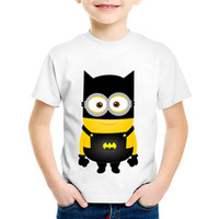 ingrosso maglietta bambino di batman-Bambini Minion Cosplay Batman / Pikachu / Deadpool Divertente T shirt Estate Cartoon Bambini Vestiti Ragazzi / Ragazze Top T-shirt, HKP5510