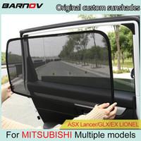 Wholesale mitsubishi asx car resale online - BARNOV Car Special Curtain Window SunShades Mesh Shade Blind Original Custom For MITSUBISHI ASX Lancer GLX EX LIONEL