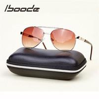 lentes de dioptria venda por atacado-Iboode óculos de leitura bifocais unisex dioptria óculos polarizados condução óculos de sol presbiopia lente + 1.0 + 1.5 + 2.0 + 2.5 + 3.0 + 3.5