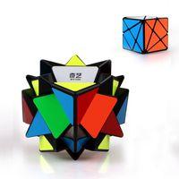 buzlu etiket toptan satış-QY Eksen Sihirli Küp Düzensiz Olarak Jinggang Hız Küp Değişimi Buzlu Sticker QY ile 3x3x3 sıcak satış