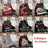 Wholesale design bedding resale online - 8 Design Baby Christmas Blankets Sherpa Fleece D Cartoon Blankets Winter Swaddling Bedding Quilt Nap Blanket Christmas Home Carpet C102305