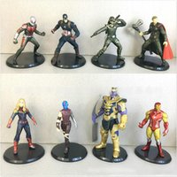 Wholesale new toy iron man for sale - 8 Style Avengers Endgame Action Figures toys Marvel New Avengers Thanos Iron Man Captain Marvel Hulk Captain America model doll kids toy