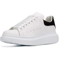 kadın s deri beyaz ayakkabılar toptan satış-Yeni Sıcak 3M Yansıtıcı Tasarımcı Ayakkabı Moda Lüks Kadın Ayakkabı Erkek Deri Lace Up Platformu Sole Sneakers Siyah Beyaz Günlük Ayakkabılar