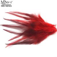 penas do faisão vermelho venda por atacado-MNFT 100 pcs Tingido Natureza Faisão Sela Pena Amarrando Material Hackle Gengibre Azul Creme Branco Rosa Vermelha Várias cores