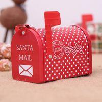 eisen mail großhandel-Weihnachtsschmuck Briefkasten Eisen E-Mail Gläser Kinder Geschenke Cartoon Candy Box
