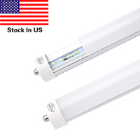 Wholesale frost pack resale online - 8 Foot LED Bulb Single Pin FA8 LED Tube Watts Dual Ended Power Ballast Bypass Lumens K Cold White Frosted Cover Pack