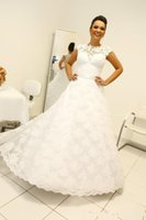 Wholesale new style dress making online - 2019 New Ball Gown Wedding Dresses High Neck Sleeveless Long Bridal Gowns Removable Skirt in Style robe de mariage vestidos de novia