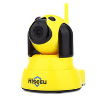 Wholesale live wireless camera resale online - Hiseeu HSY FH4 P WiFi IR CUT Indoor IP Camera Suitable for a smart home living simple design