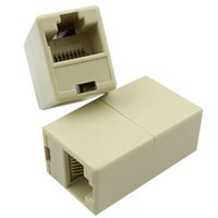 Wholesale network computer cables for sale - Group buy Network Ethernet Lan Cable Joiner Bilateral Pins Coupler Connector RJ45 Computer Netwoerk Connection Adapters