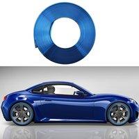 autocolantes roda azul venda por atacado-8 M Eye Catching Azul Da Roda Do Carro Hub Rim Borda Protector Anel Pneu Adesivo De Borracha Do Carro Styling